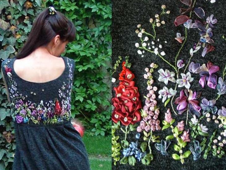 Летняя вышивка платья