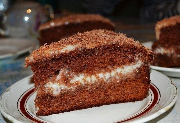 Домашний шоколадно-сметанный торт. Вкуснее и проще нет рецепта