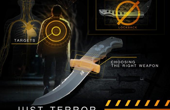Правила самозащиты от нападения террориста с ножом