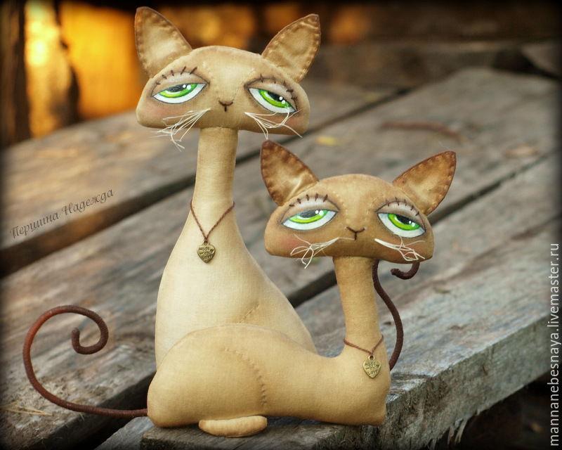 Шьем парочку кофейно-запеченых котиков