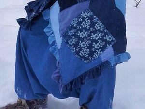 Шьем теплую юбку-одеяло из лоскутков