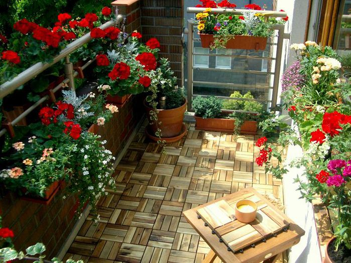 Вдохновение: сад на балконе!