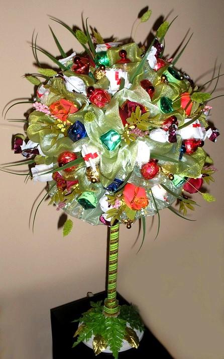 Дерево из конфет своими руками фото