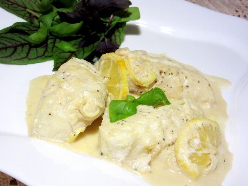 Отличный соус для рыбы! Запеченная рыба с лимонным сливочным соусом