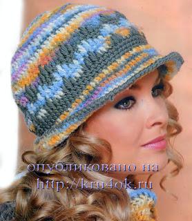 Модные весенние шляпки крючком