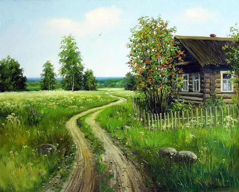 Люблю я мирные картины Своих полей, своих лесов... Пейзажная живопись Сергея Курицына