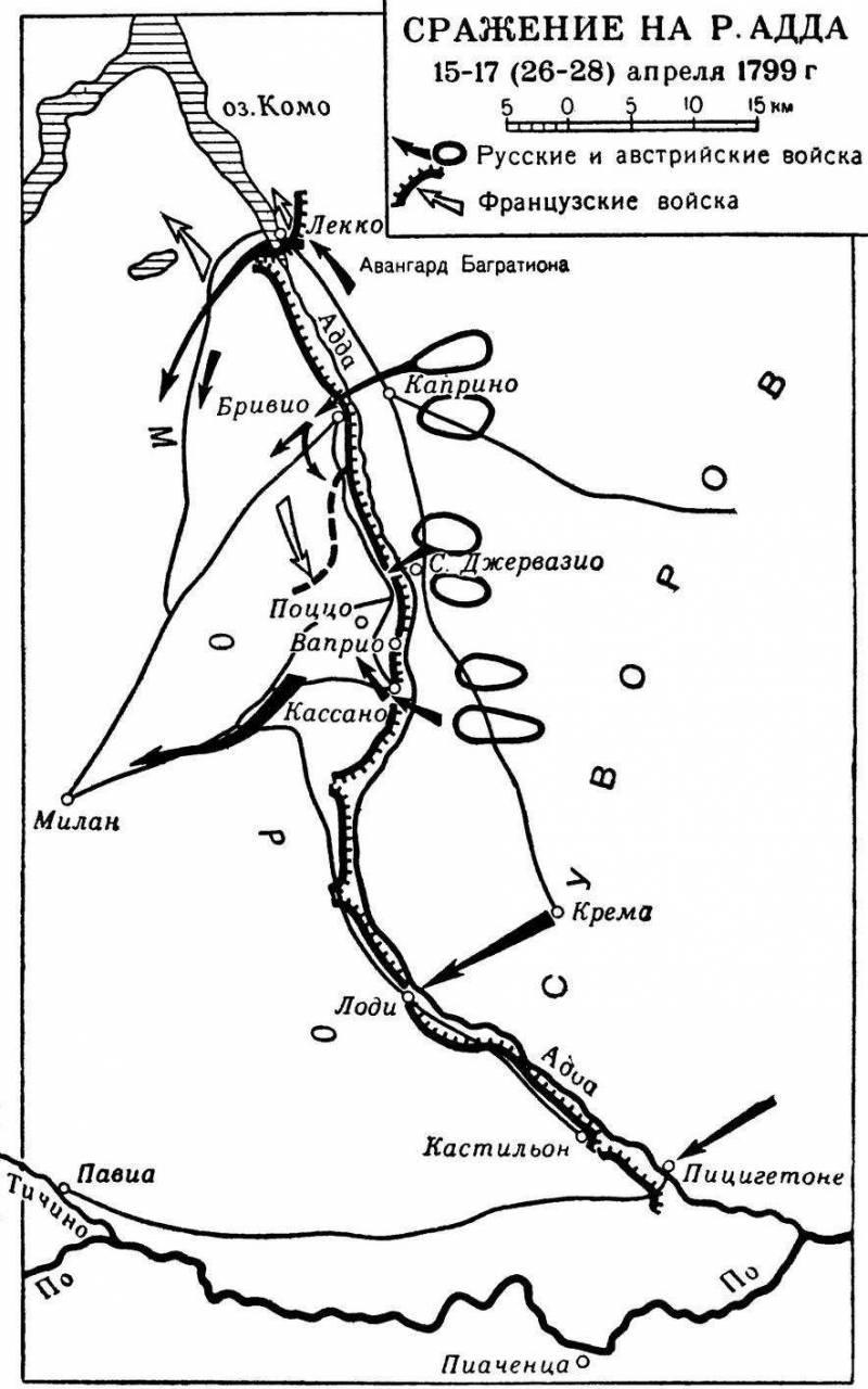 Победа Суворова на реке Адда