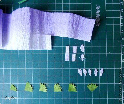 Мастер-класс Бумагопластика Маленькие цветочки из бумаги Кристал  Бумага гофрированная фото 4