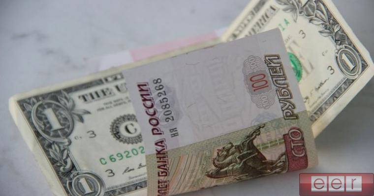 американский доллар и российский рубль