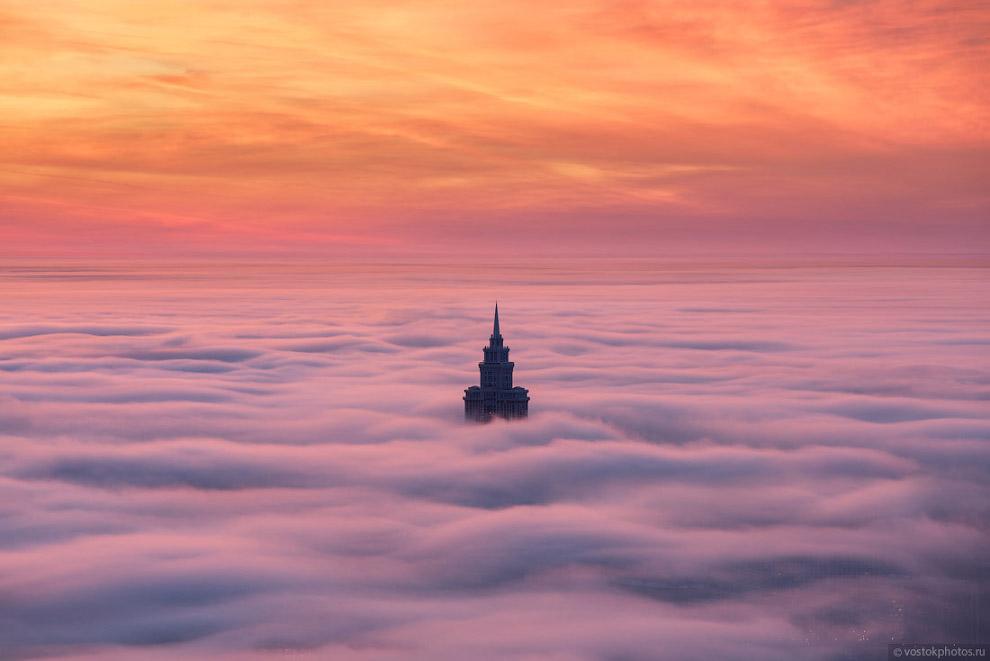 Москва под облаками - красота, которую с земли не видно!