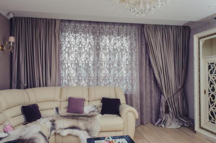 Дизайн окон в гостиной