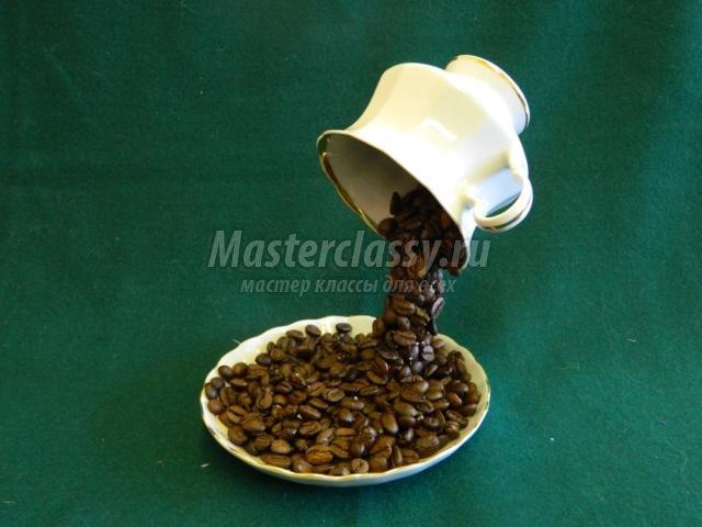 Топиарий парящая чашка кофе