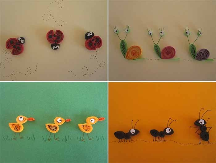 Красивые поделки из квиллинга для детей - фото 33