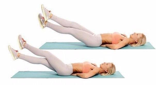 Упражнения для плоского животика…