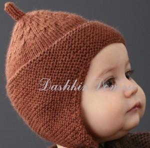 шапочка для малыша с ушками