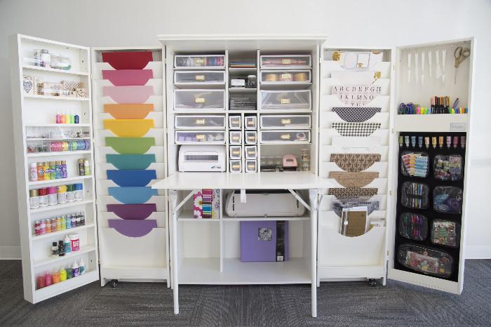 Как сделать универсальный шкаф для рукодельниц