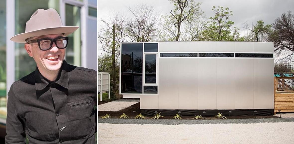 Этот домик площадью 32 кв. метра создал профессор, проживший год в мусорном контейнере