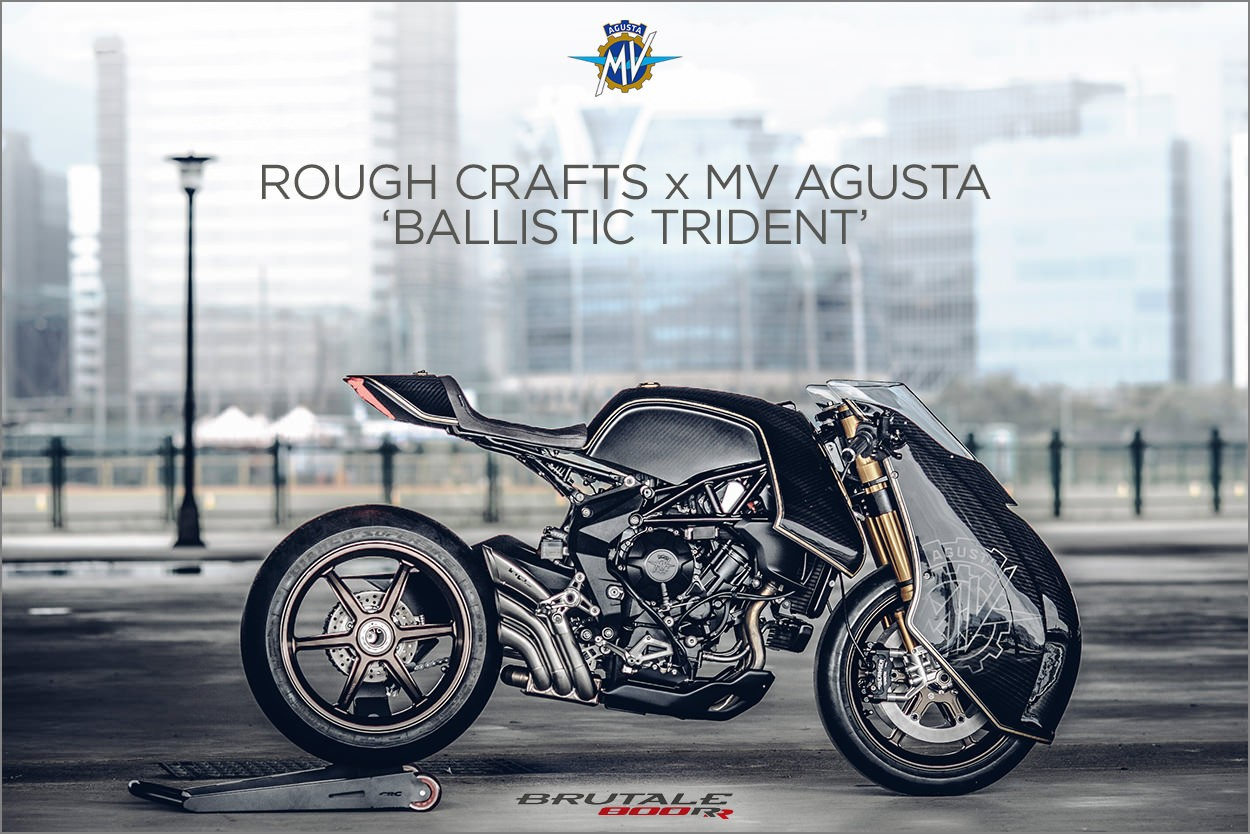 Кастом Ballistic Trident на базе MV Agusta от Rough Crafts
