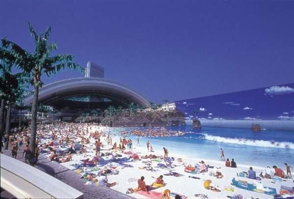 Ocean Dome в Японии: самый необычный пляж в мире