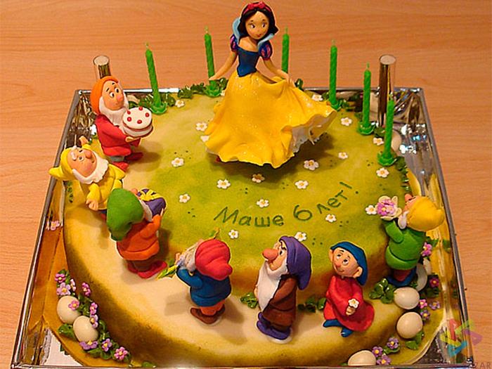 Фото на торте детские