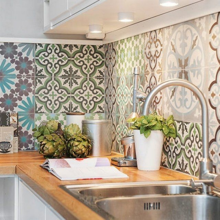 Morrocan tile backsplash