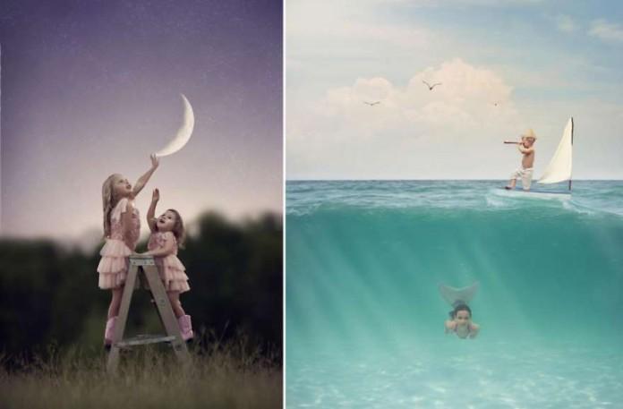 Фотограф воплощает детские мечты в своих магических снимках