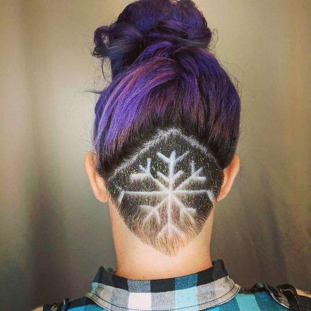 20. Снежинка волосы, праздник, прическа, рождество