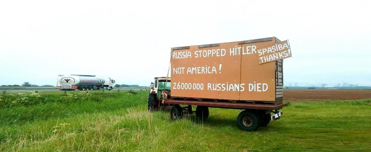 «Россия остановила Гитлера, не Америка»: голландский фермер поблагодарил русских за победу!