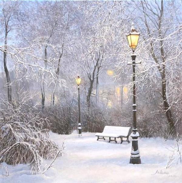 зимние пейзажи Ольга Дидык - 10