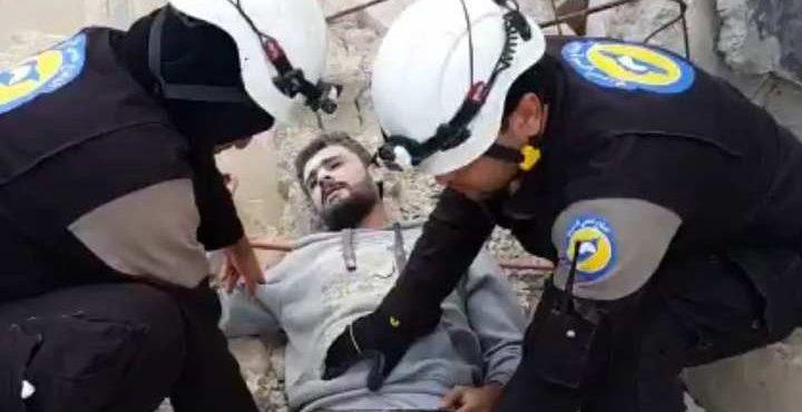 Шокирующие кадры: «Оживший мертвец» после авиаудара в Сирии взрывает Сеть
