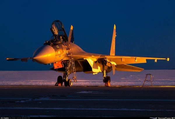 Российский истребитель Су-35С совершил одиночный полет до Гибралтара