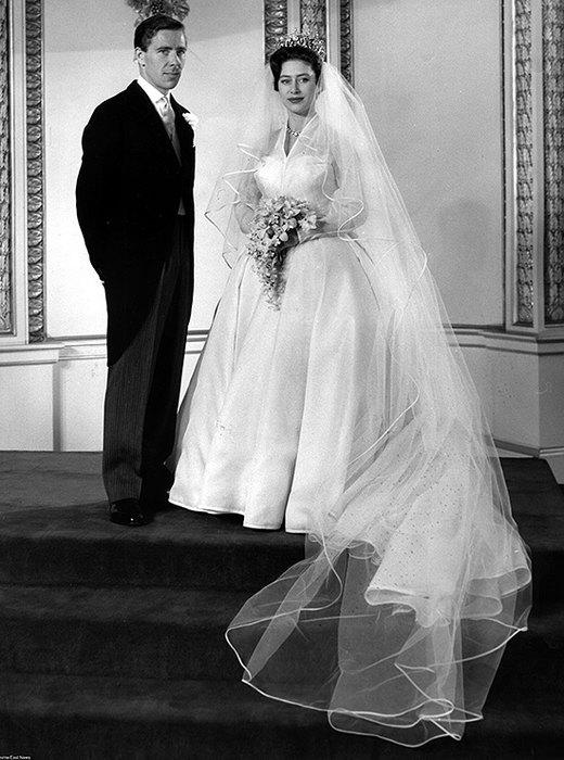 Принцесса Маргарет вподвенечном платье