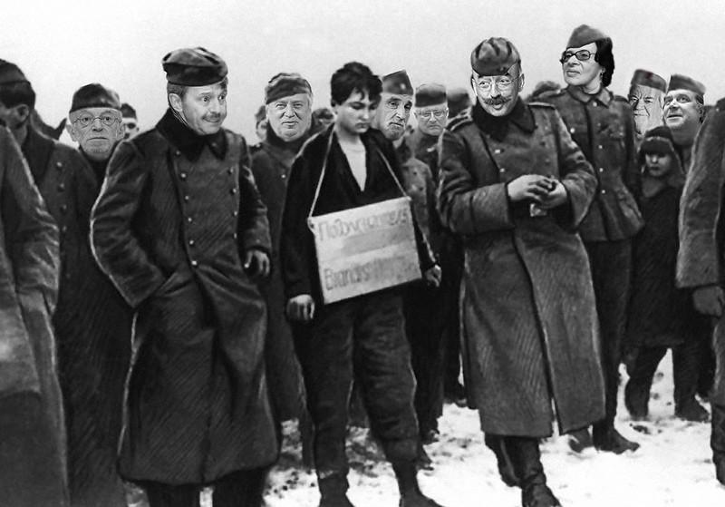 Фашисты казнят Зою Космодемьянскую