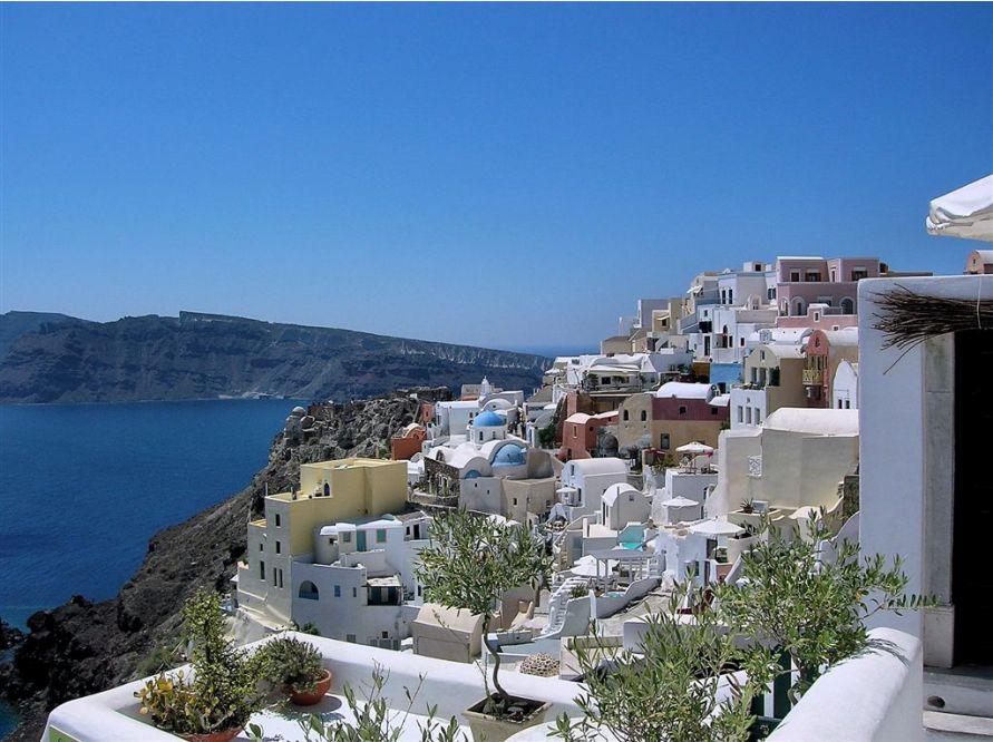Остров Santorini в Эгейском море