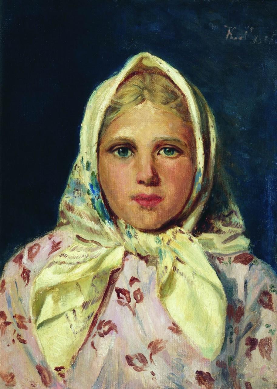 МаковÑкий К.. Девочка в платке (Портрет девочки). 1870-е (?)