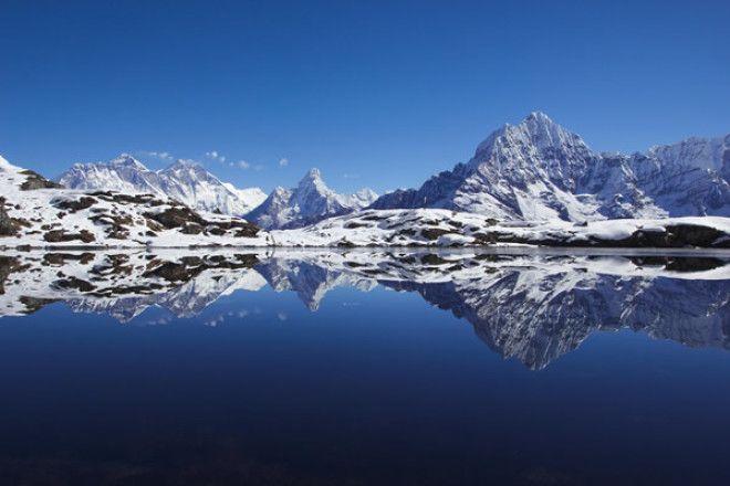 Вид на Эверест, вблизи отеля Конгде