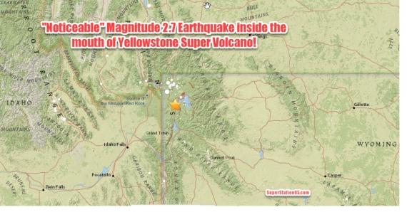 Началось! Землетрясение M2.7 непосредственно в устье кальдеры Йеллоустон