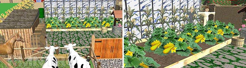 Сад в деревенском стиле