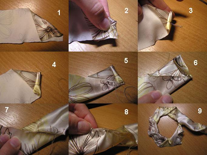 Мастер класс розочки из ткани