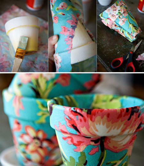 как украсить цветочные горшки своими руками в домашних условиях