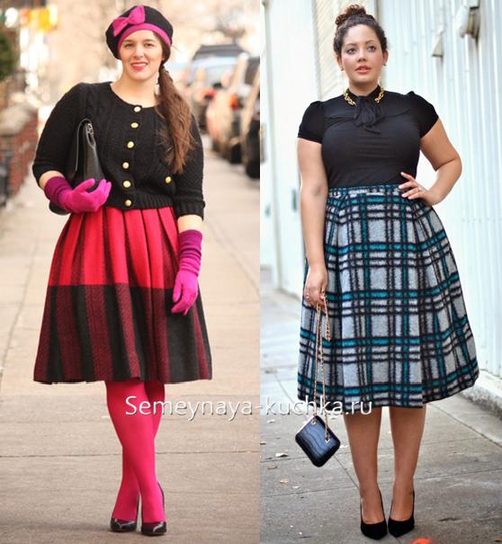 Стильные юбки на полных