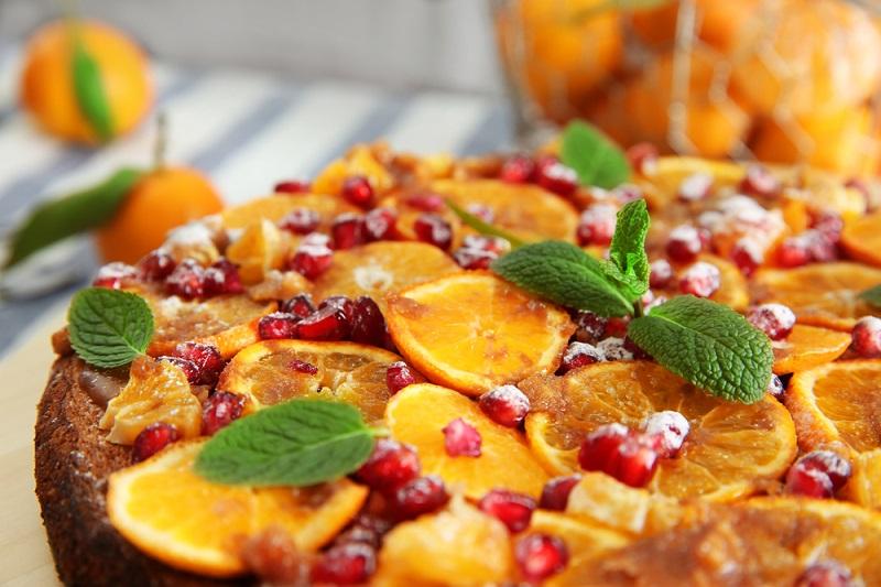 мандариновый пирог с кокосовой стружкой