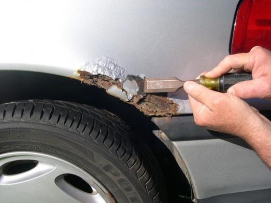 Как удалить ржавчину с кузова автомобиля