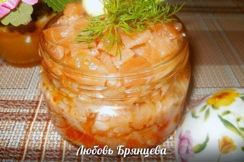 Заготовка лососевых рыб для салатов и бутербродов