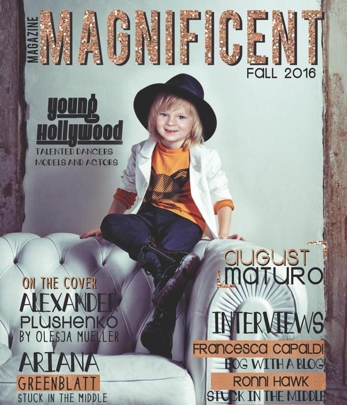 Первым русским мальчиком на обложке американского журнала мод стал сын Плющенко