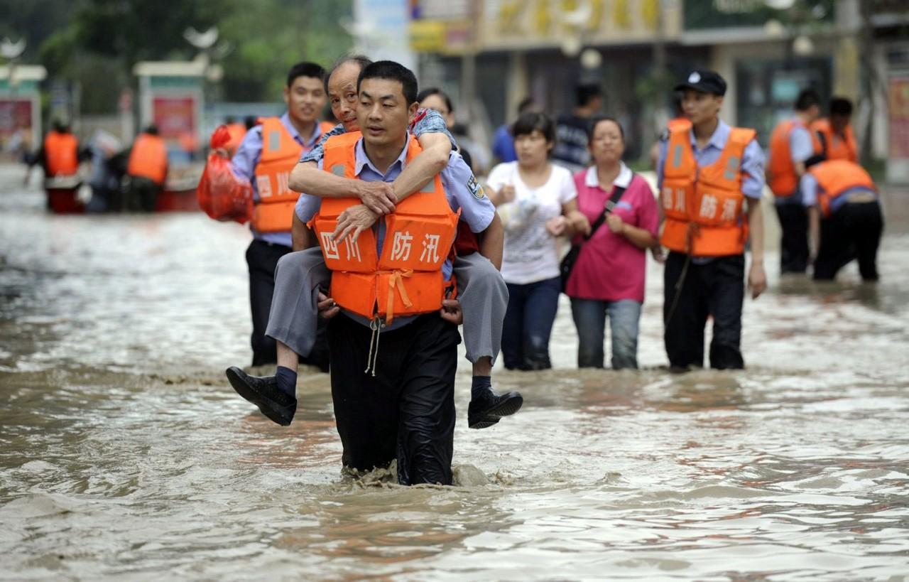 В Китае от наводнения пострадали 12 млн. человек