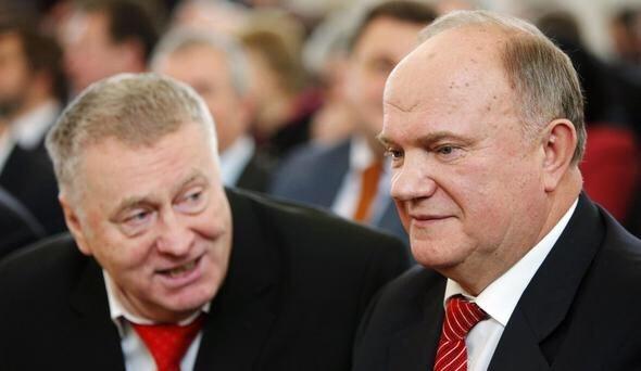 Жириновский сцепился с Зюгановым в Госдуме из-за революции
