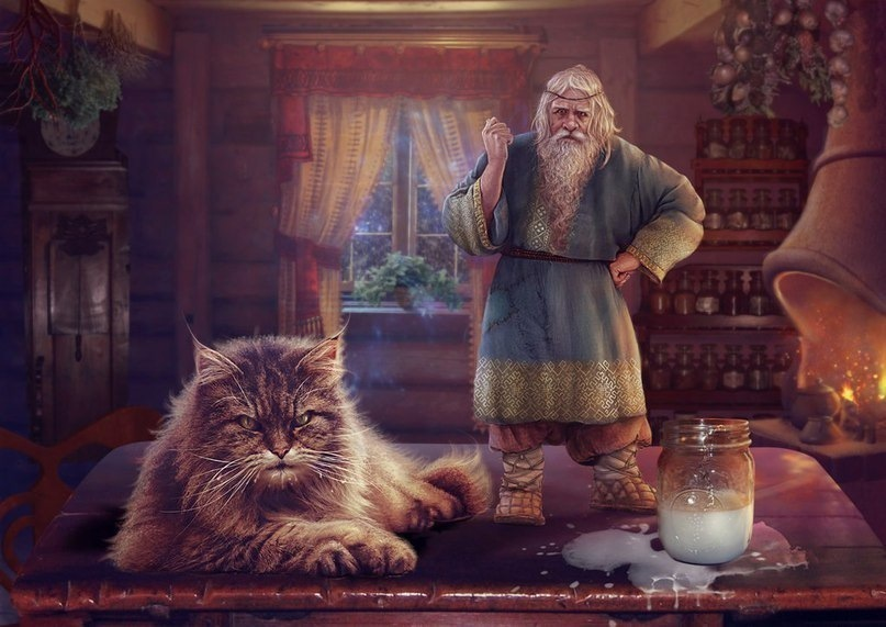 парикмахерской кошка в веровании славян того, бегущая