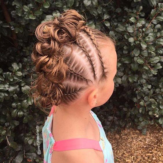 Детская прическа на основе косы
