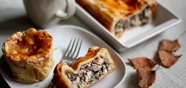 5 рецептов  сочных грибных пирогов